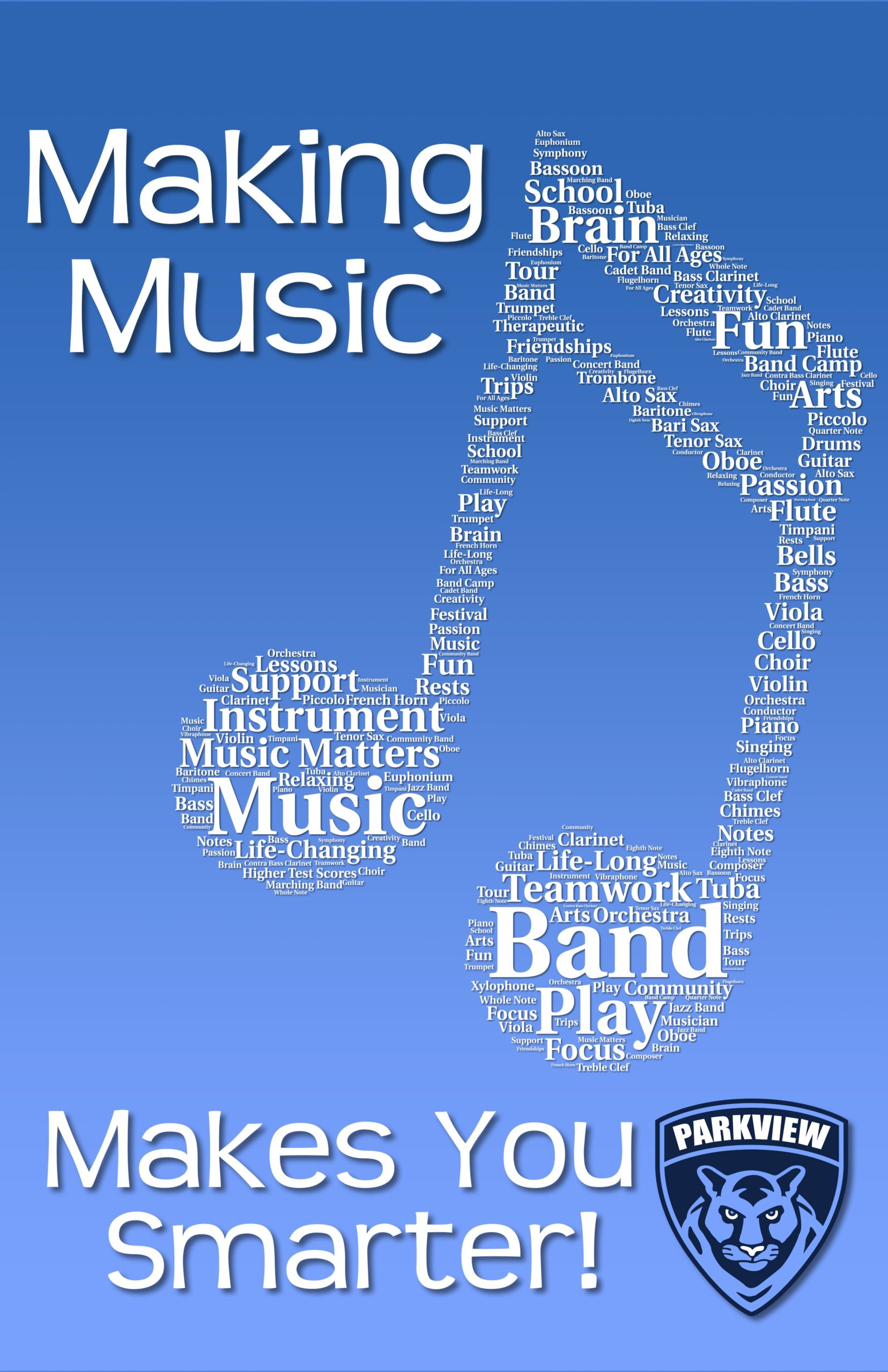 Parkview Music makes You Smarter Poster
